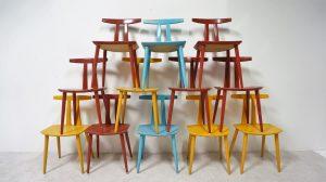 Chaises J111 Poul Volther. Scandinave. vintage. design du XXème. antiquités du XXème>. Galerie87.com