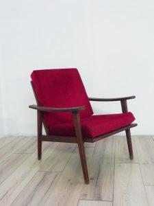 Fauteuil vintage scandinave. Design. Antiquités. Galerie87.com