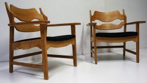 Fauteuils scandinaves Henning Kjaernulf. Design. Vintage. Antiquités. Scandinave. Galerie87.com