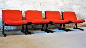 4 chauffeuses scandinaves Adrian Heath pour Cado. Design. XXème. Midcentury. Galerie87.com
