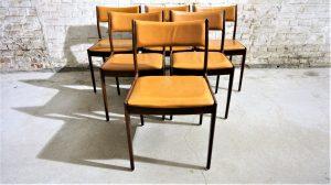 6 chaises Uldum mobelfabrik. Scandinave. Johannès Andersen. Vintage. Design du XXème. Galerie87.com