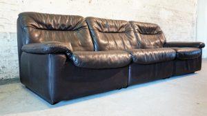 Canapé de Sede DS66 uir chocolat. Design du XXème. Vintage. Antiquités du XXème. Galerie87.com