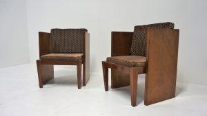 fauteuils modernistes dans le goût d'André Sornay. Vintage. Design du XXème. Antiquités. www.galerie87.com