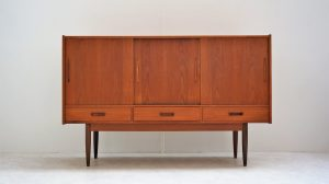 Enfilade vintage scandinave en teck. Design. XXème. Midcentury. Galerie87.com