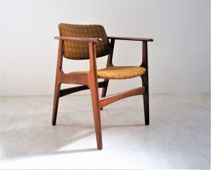 Fauteuil scandinave en teck dlg E. Kirkegaard. Vintage. Design du XXème. Midcentury. www.galerie87.com