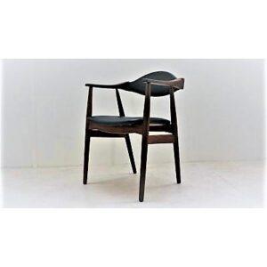 Fauteuil de bureau scandinave en teck, Th. Harlev. Farstrup. Design. XXème. Midcentury. Vintage. Galerie87.com