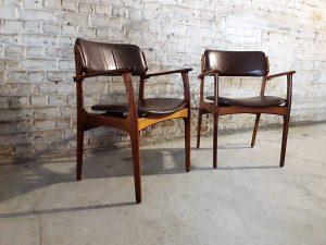 Paire de fauteuils 49 Erik Buch en palissandre. Vintage. Midcentury. XXème Galerie87.com