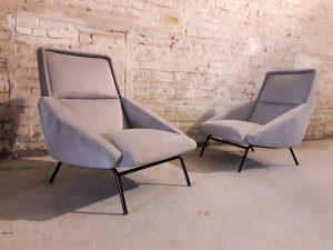 Paire de fauteuils Guermonprez. France. Design du XXème. Vintage. Galerie87.com