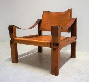 Pierre Chapo Fauteuil Sahara S10. Vintage. Midcentury. XXème. Design. Galerie87.com