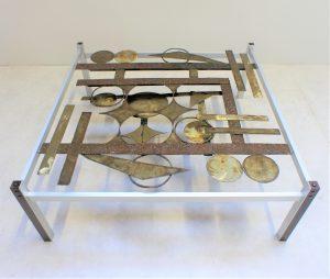 Table de salon Knud Rasmussen. Design. Brutaliste. Antiquuités du XXème. Galerie87.com. vintage