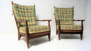 Fauteuils Guillerme et Chambron. Antiquités. Design. Vintage. Galerie87.com
