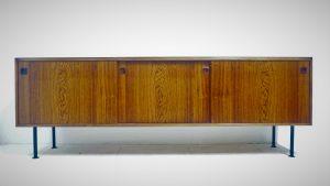 enfilade en palissandre. vintage. scandinave. antiquités du XXème. design du XXème. Galerie87