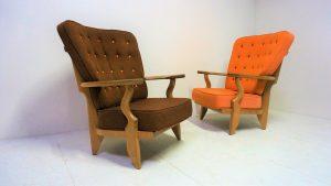 Fauteuils Guillerme et Chambron. Design du XXème. Vintage. Antiquités du XXème. www.galerie87.com