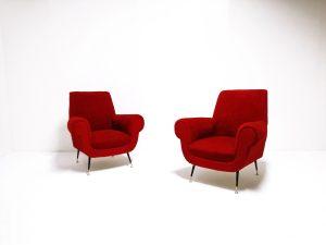 fauteuils Gigi Radice. vintage. design du XXème. antiquités du XXème. www.galerie87.com