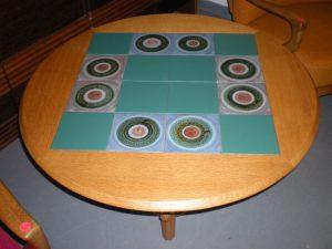 """Table """"monte et baisse"""" de Guillerme et Chambron. Antiquités du XXème. Design du XXème. Meuble vintage. www.galerie87.com"""