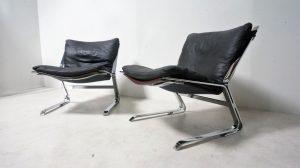paire de fauteuils pirate Elsa et Nordahl Solheim. Design du XXème. vintage. scandinave. Galerie87.com