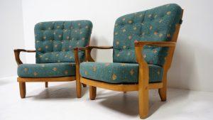 Fauteuils Guillerme et Chambron. Antiquités du XXème. Design du XXème. Vintage. www.galerie87.com