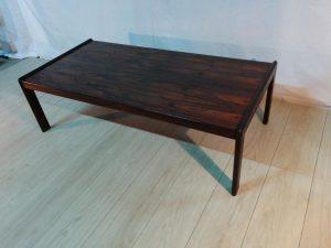 Table de salon scandinave en palissandre. Antiquités du XXème. Design du XXème. Meuble vintage. www.galerie87.com