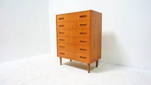 Commode Chiffonnier scandinave. Borge Seindal. antiquités du XXème. design. Vintage. Galerie87
