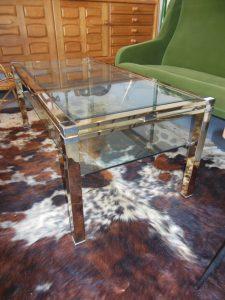 Table basse 1970. Antiuités du XXème. Design du XXème. Vintage. www.galerie87.com
