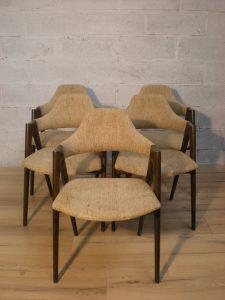 Kai Kristiansen, chaises compass. Antiquités du XXème. Design du XXème. Galerie87.com