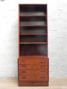 Poul Hundevad, bibliothèque scandinave en palissandre. Antiquités du XXème. Design du XXème. www.galerie87.com