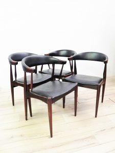 Chaises scandinaves Johannès Andersen. Design. Vintage. Scandinave. galerie87.com