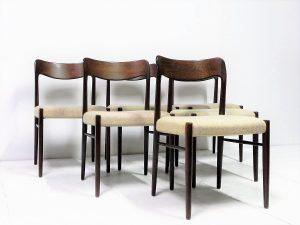 Chaises scandinaves. Scandinave. Design. Vintage. Antiquités. Galerie87.com