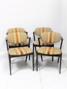 Chaises scandinaves Kai Kristiansen. Design. Vintage. Antiquités. Scandinave. Galerie87.com
