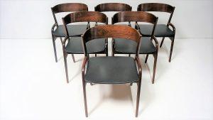 Chaises scandinaves en palissandre. Scandinave. Design. Vintage. Galerie87.com Antiquités