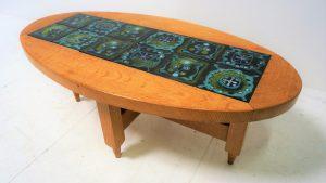 Table basse Guillerme et Chambron. Design du XXème. Antiquités du XXème. coffeetable. www.galerie87.com