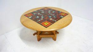 Guillerme et Chambron. Vintage. table Ladislas. design du XXème. antiquités. Galerie87.com