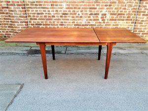 Table à manger scandinave en teck. Vintage. Design. XXème. Galerie87.com
