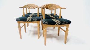 6 chaises danoises vintage. Scandinave. design du XXème. antiquités . Galerie87