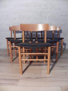 6 chaises Farstrup. Antiquités du XXème. Design scandinave. Galerie87