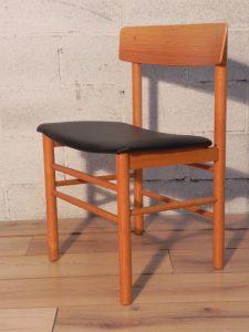 6 chaises Farstrup. Antiquités du XXème. Design scandinave. Galerie87.com