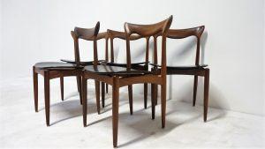 Chaises H.W. Klein, Bramin. scandinave?. design du XXème. antiquités. Vintage. Galerie87