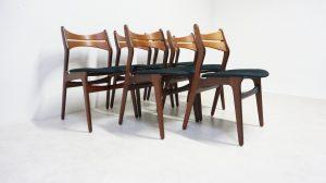 Chaises 310 Erik Buch. Scandinave. Teck. Design du XXème. Antiquités du XXème. Vintage. Galerie87.com