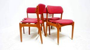 Chaises 49 Erik Buck. Scandinave. vintage. design du XXème. antiquités du XXème. Galerie87