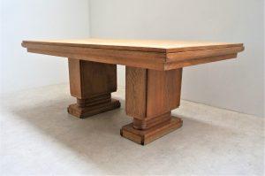 Table de salle à manger Dudouyt. Vintage. Design. Antiquités du XXème. Art-déco. Midcentury. Frenchdesign. www.galerie87.com