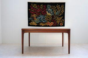 Table de salla à manger scandinave en teck Henning Kjaernulf. Vintage. Design. XXème. Midcentury. Galerie87.com