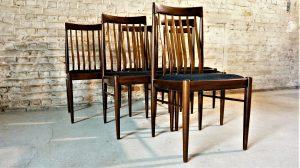 chaises H.W. Klein, Bramin. Scandinave. Vintage. Danish design XXème. Galerie87.com