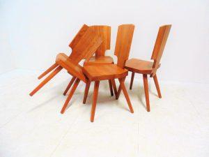 chaises S28, Pierre Chapo. Vintage. design du XXème. Antiquités du XXème. Galerie87.com