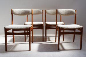 Chaises scandinaves en teck. Vintage. Design du XXème. Vintage. www.galerie87.com. midcentury