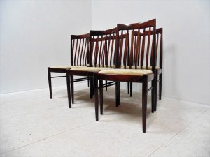 chaises vintage H.W. Klein. Bramin. Design du XXème. antiquités. Galerie87