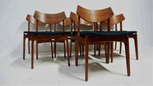 chaises vintage teck. scandinave. antiquités. design du XXème. Galerie87