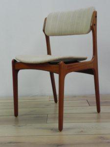 Eric Buch, 6 chaises palissandre. Antiquités du XXème. Design scandinave. Galerie87.com