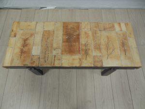 table basse capron. Antiquités du XXème. Design du XXème. Meuble vintage. www.galerie87.com