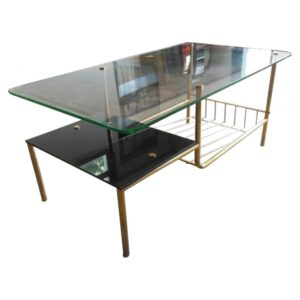 Table basse vintage Guariche. Antiquités du XXème. Design du XXème. www.galerie87.com