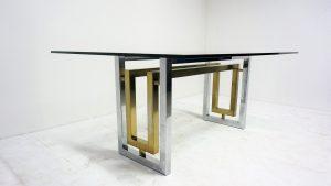 Table design. Romeo Rega. Willy Rizzo. Zevi. Vintage. design du XXème. Galerie87